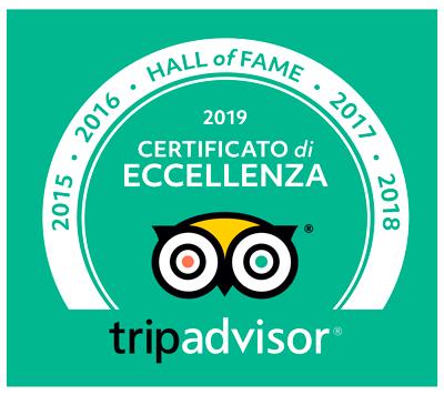 Certificato Eccellenza TripAdvisor Hotel Punta Barone - Albergo sull'isola di Salina in Sicilia
